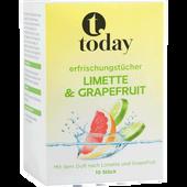 Bild: today Erfrischungstücher Limette & Grapefruit