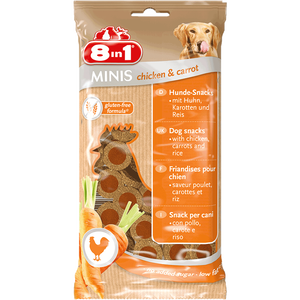 Bild: 8in1 Minis chicken & carrot Hunde-Snacks