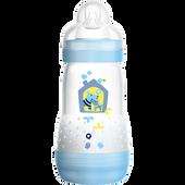 Bild: MAM Easy Start Anti-Colic 260ml Time for Love - Babyflasche Blau