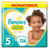 Bild: Pampers Premium Protection Gr.5 Junior 11-16kg MonatsBox