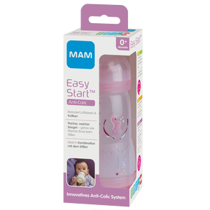 Bild: MAM Easy Start Anti-Colic 260ml Time for Love - Babyflasche Rosa