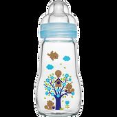 Bild: MAM Feel Good 260ml - Babyflasche aus Glas Blau
