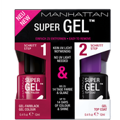 Bild: MANHATTAN Super Gel Nail Polish + Top Coat berry love