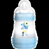 Bild: MAM Easy Start Anti-Colic 160ml Time for Love - Babyflasche Blau