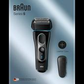 Bild: Braun Series 5 Elektrorasierer mit Leder Etui