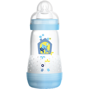 Bild: MAM Easy Start Anti-Colic 260ml Time for Love - Babyflasche Blau