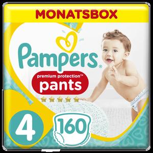 Bild: Pampers Premium Protection Pants Gr.4 Maxi 9-15kg Monatsbox