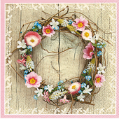 Bild: Paper + Design Servietten Spring Wreath