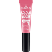 Bild: essence Boost Vinylicious Liquid Lipstick pink interest