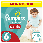 Bild: Pampers Baby Dry Pants Gr.6 Extra Large 15+kg MonatsBox