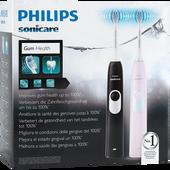 Bild: PHILIPS Sonicare 2 Series Doppelpack Black + Pink elektrische Zahnbürste