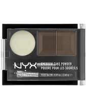 Bild: NYX Professional Make-up Eyebrow Cake Powder dark brown/brown
