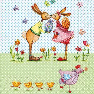 Bild: Paper + Design Servietten Bunnies in Love