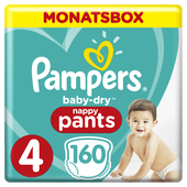 Bild: Pampers Baby Dry Pants Gr.4 Maxi 9-15kg MonatsBox