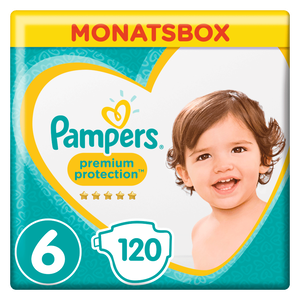 Bild: Pampers Premium Protection Gr.6 Extra Large 13-18kg Monatsbox