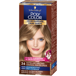 Bild: Schwarzkopf POLY COLOR Creme Haarfarbe mittelaschblond