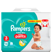 Bild: Pampers Baby-Dry Pants Gr. 3 (6-11kg) Jumbo Plus Pack