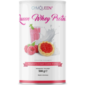 Bild: GYMQUEEN Queen Whey Protein Raspberry Cream Cookie Aroma