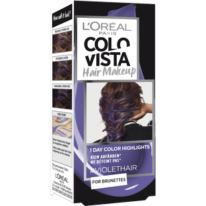 Bild: L'ORÉAL PARIS Colovista Hair Makeup violethair