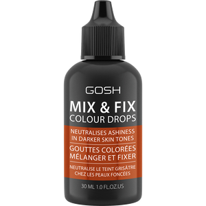 Bild: GOSH Mix & Fix Colour Drops neutralisiert graue Töne bei dunkler Haut