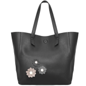 Bild: LOOK BY BIPA Shopper Blumen schwarz/grau