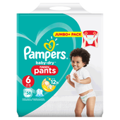 Bild: Pampers Baby-Dry Pants Gr. 6 (15+kg) Jumbo+ Pack