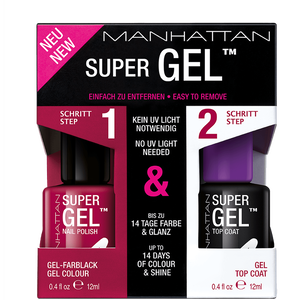 Bild: MANHATTAN Super Gel Nail Polish + Top Coat berry love