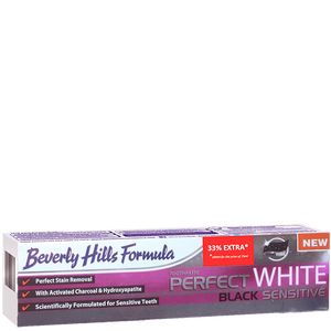 Bild: Beverly Hills Formula Perfect White Black Sensitive Zahncreme