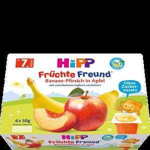 Bild: HiPP Früchte-Freund Banane-Pfirsich in Apfel