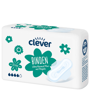 Bild: clever Binden Ultra Normal Plus mit Flüglen