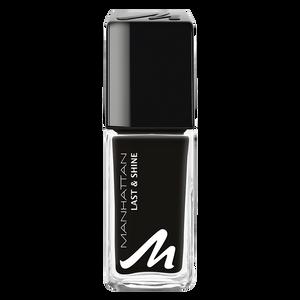 Bild: MANHATTAN Last & Shine Nagellack black is back