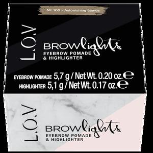 Bild: L.O.V BROWLIGHTS Eyebrow Pomade & Highlighter 100 astonishing blonde
