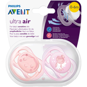 Bild: PHILIPS AVENT Schnuller Ultra Air, 0-6 Monate, Engel orange/rosa