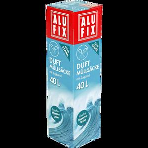 Bild: ALUFIX Duft Müllsäcke mit Zugband frische Meeresbrise 40l