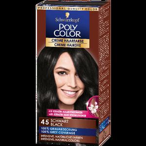 Bild: Schwarzkopf POLY COLOR Creme Haarfarbe schwarz