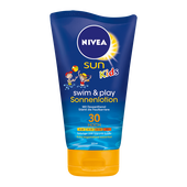Bild: NIVEA Sun Kids swim & play Sonnenlotion LSF 30