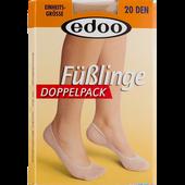 Bild: edoo Füßlinge Doppelpack 20 DEN