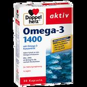 Bild: DOPPELHERZ Omega-3 1400 mit Omega-3 Konzentrat  Kapseln