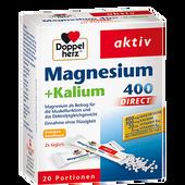 Bild: DOPPELHERZ Magnesium + Kalium 400 Direct Portionsbeutel