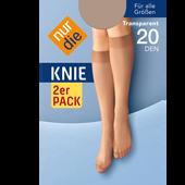 Bild: nur die Knie 2er Pack 20 DEN perle