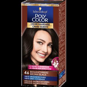 Bild: Schwarzkopf POLY COLOR Creme Haarfarbe braunschwarz