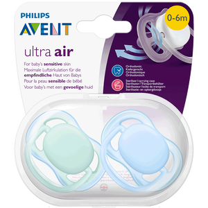 Bild: PHILIPS AVENT Schnuller Ultra Air, 0-6 Monate, türkis/blau