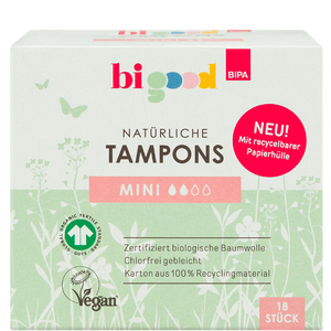 Bild: bi good Natürliche Tampons mini