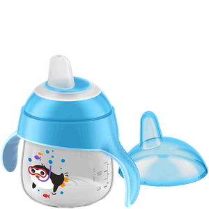 Bild: PHILIPS AVENT Schnabelbecher mit Lerngriff, 200ml, 6 Monate+, weich, blau