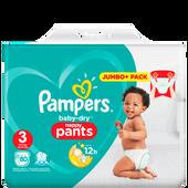 Bild: Pampers Baby-Dry Pants Gr. 3 (6-11kg) Jumbo Plus Pack