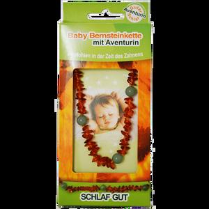 Bild: Baby Bernsteinkette mit Aventurin