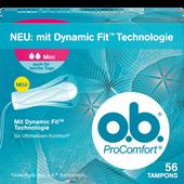 Bild: o.b. ProComfort Tampons mini