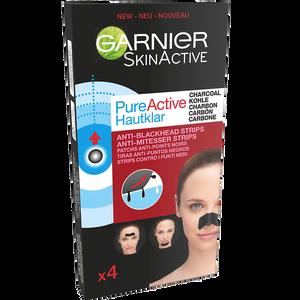 Bild: GARNIER SKIN ACTIVE PureActive Hautklar Anti-Mitesser Strips mit Kohle
