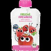 Bild: Freche Freunde Quetschbeutel Apfel, Erdbeere, Blaubeere & Himbeere