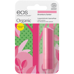 Bild: eos Organic Lippenpflege Erdbeersorbet